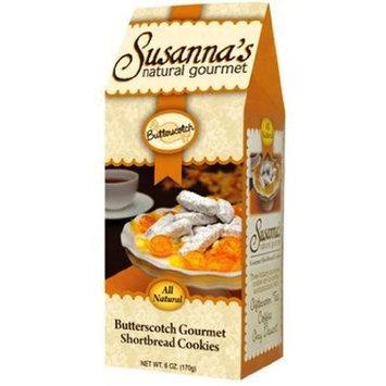 Susanna's Shortbread Cookies, Butterscotch, 6-Ounce Boxes (Pack of 6)