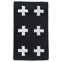 Room Essentials Plus Sign Bath Rug - White/Black (20x34)