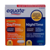 Equate Cold Multi Symptom Daytime AND Nighttime Combo Pack Compare to Tylenol Cold Multi Symptom