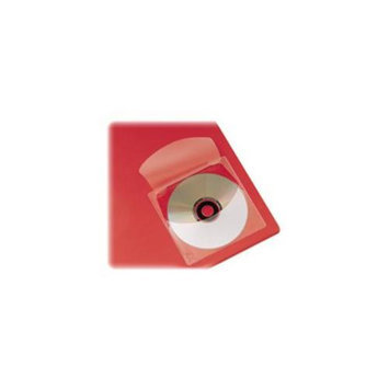 Cardinal Brands- Inc CRD21845 CD Disk Pockets- Self-Adhesive- 5inchx5inch- 10-Pack- Clear