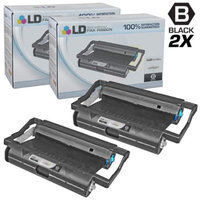 LD Compatible Replacements for Brother PC201 Set of 2 Fax Cartridges With Roll for use in Brother Intellifax 1170, 1270, 1270e, 1570MC, 1575MC, MFC 1770, 1780, 1870MC, and 1970MC Printers
