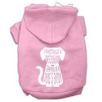 Mirage Pet Products Trapped Screen Print Pet Hoodies Light Pink Size Sm (10)