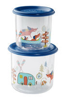 SugarBooger Good Lunch Large Snack Containers (Fox) - 2-pack