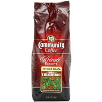 Community Coffee Private Reserve Whole Bean Coffee, 100% Colombia, 12-Ounce Bags (Pack of 3)