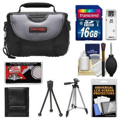 Precision Design PD-C15 Digital Camera Case with 16GB Card + Tripod + Cleaning & Accessory Kit for Nikon 1 J1, V1 Digital Cameras