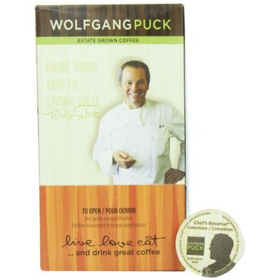 Wolfgang Puck Coffee, Chef's Reserve Colombian (Dark Roast), 24-Count K-Cup for Keurig Brewers