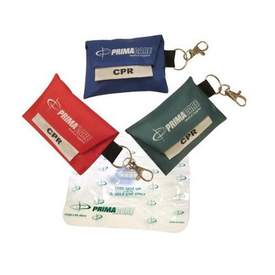Primacare Medical 3 pack - CPR Shield Barrier Pocket Masks In KEYRING POUCH - 3 Pack