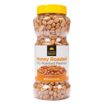 Clover Valley Honey Roasted Peanuts, 16 oz