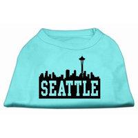 Mirage Pet Products 5173 XXXLAQ Seattle Skyline Screen Print Shirt Aqua XXXL 20