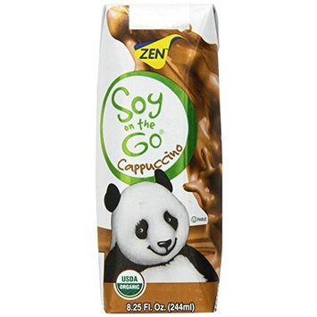 ZenSoy Soy-On-The-Go Soymilk, Cappuccino, 8.25-Ounce Aseptic Packages (Pack of 15)