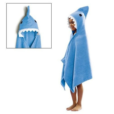 Avon Shark Towel Bath Beach Camp Hood Kids Blue Boy Girl Toddler Serviette De Bain a Capuchon Requin