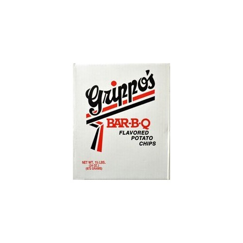 Grippos Grippo's BBQ Potato Chips (1.5lb Box)