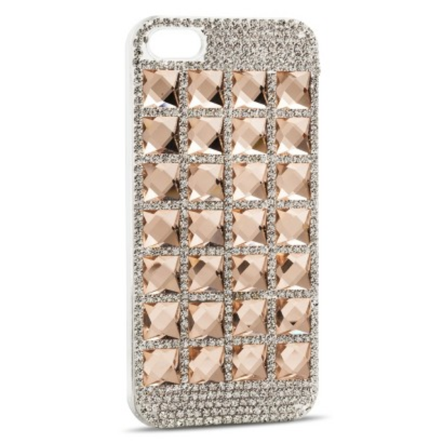 Women's Jewel Studded Cell Phone Case - Pink