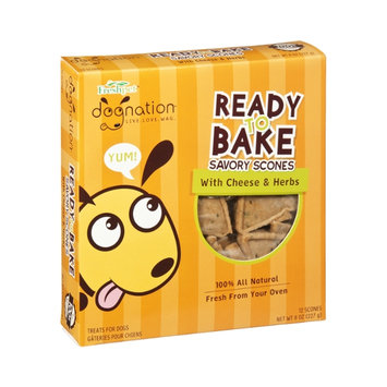 Freshpet Dognation Cheese & Herbs Ready to Bake Savory Scones Treats for Dogs - 12 CT