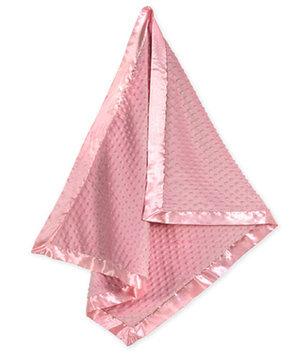 Jojo Designs Sweet JoJo Designs Super Soft Pink Minky Dot and Satin Baby Blanket