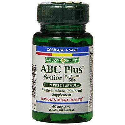 Nature's Bounty ABC Plus Senior with Lutein and Lycopene, 60 Tablets (Pack of 3)