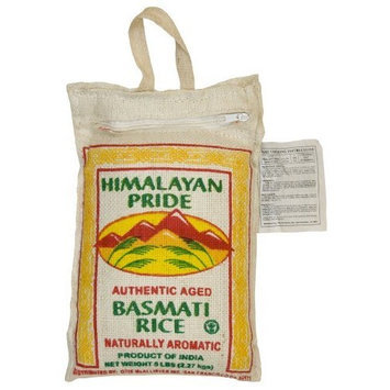 Himalayan Pride Indian Basmati Rice, 5 Pound Bags (Pack of 2)