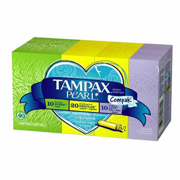 Tampax Tampons with Pearl Compact Applicator