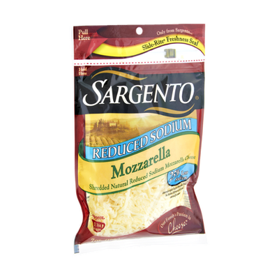 Sargento® Reduced Sodium Mozzarella Shredded Cheese