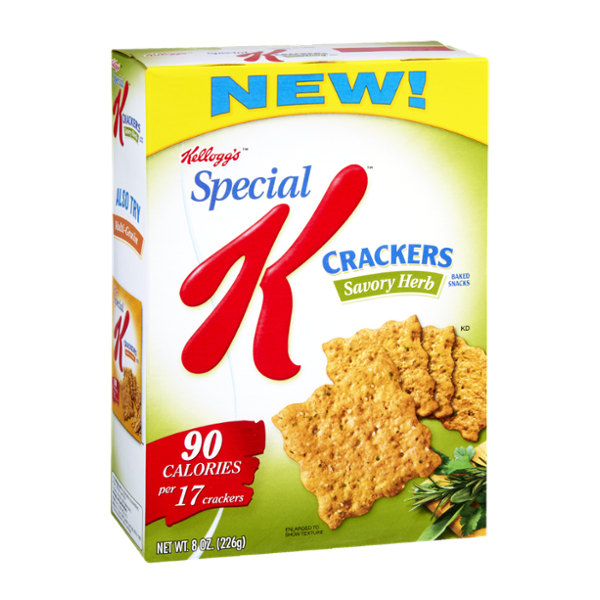 Special K® Kellogg Savory Herb Baked Snacks Crackers