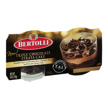 Bertolli Triple Chocolate Strata Cake - 2 CT