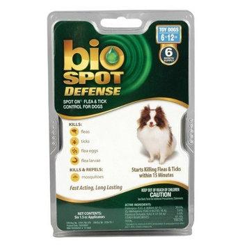 Bio Spot Defense Spot on Flea and Tick Dogs 6-12-Pound, 6-Month Supply