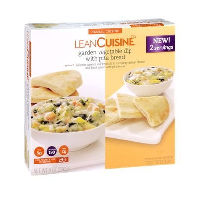 Lean Cuisine Garden Vegetable Dip with Pita Bread