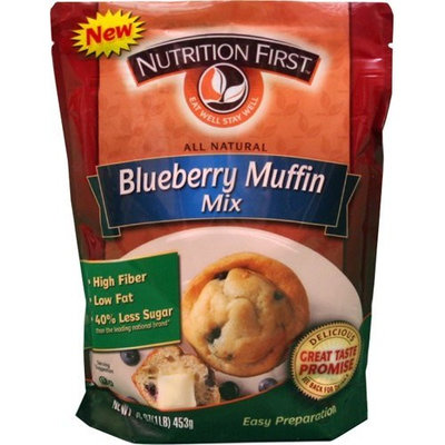 Nutrition First NUTRITON FIRST Muffin Mix, Blueberry, 16-Ounce (Pack of 3)