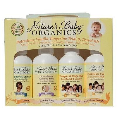 Natures Baby Organics Vanilla Tangerine Travel Pack