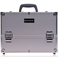Shany Cosmetics SHANY Silver Aluminum Makeup Case, 4 Pounds