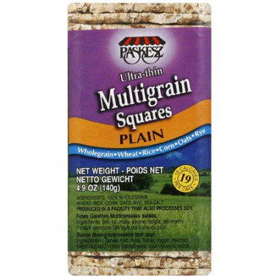 Paskesz Plain Ultra-thin Multigrain Squares, 4.9 oz, (Pack of 12)