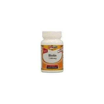 Vitacost Brand Vitacost Biotin -- 7500 mcg - 60 Tablets