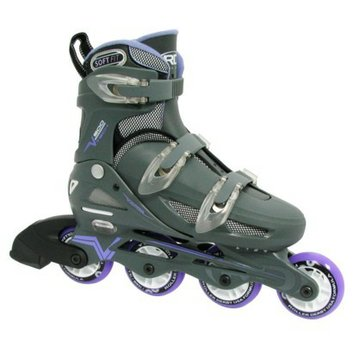 Roller Derby Women's  V500 Adjustable Inline Skate - Gray/ Lavender