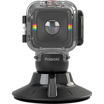 Polaroid Cube Waterproof Case/Suction Camera and Camcorder Mount -