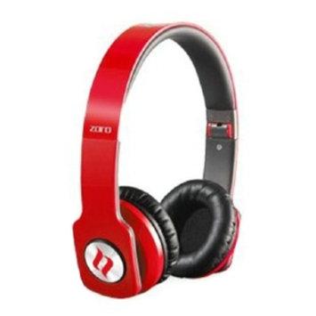Noontec Zoro Headphones, Red, 1 ea