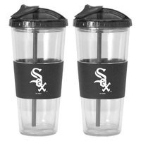 Boelter Brands MLB White Sox Set of 2 No Spill Straw Tumbler - 22oz