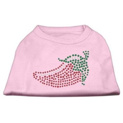 Mirage Pet Products 5219 XSLPK Rhinestone Chili Pepper Shirts Light Pink XS 8