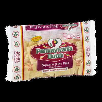 Pennsylvania Dutch Square Pot Pie Egg Noodles