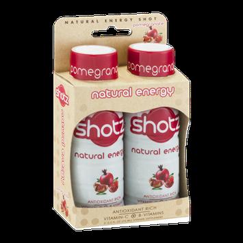 Shotz Natural Energy Vitamin Supplement Pomegrante - 2 CT