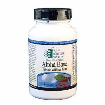 Ortho Molecular Products Alpha Base w/o Iron, 120 ea