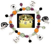 Clementine Designs Happy Halloween Trick or Treat Mummy Spider Web Candle Jar Candy Decor
