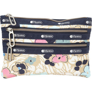 LeSportsac Classic 3 Zip Pouch Ocean Blooms - LeSportsac Ladies Cosmetic Bags