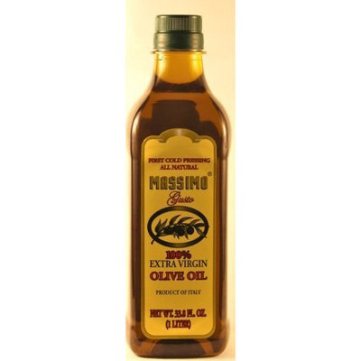 Massimo Gusto, Extra Virgin Olive Oil, 1 Liter Bottle (Pack of 2)