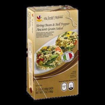 Ahold World Menu String Bean & Bell Pepper Ancient Grain Salad