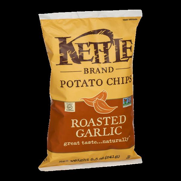 Kettle Brand Potato Chips Roasted Garlic