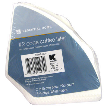 Kmart Corporation KMART CORPORATION Cone Coffee Filters 200 Count - KMART CORPORATION