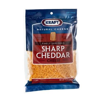 Kraft Finely Shredded Sharp Cheddar Cheese
