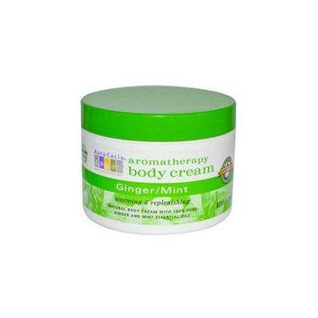 Aura Cacia Ginger/Mint  Aromatherapy Body Cream  8 oz.  jar 188253