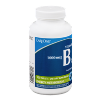 CareOne Vitamin B12 1000mcg Dietary Supplement Tablets