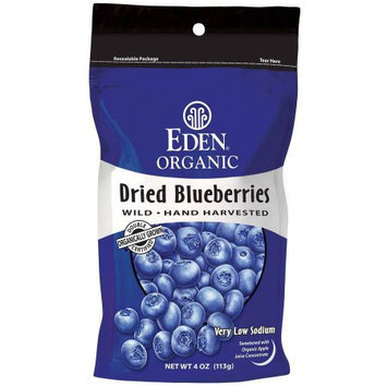 Eden Organic Dried Blueberries, 4 oz, (Pack of 5)